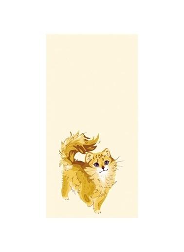 Artikel Minnoş Kedi Desenli -3 Dekoratif Çift Taraflı Yastık Kırlent Kılıfı 45x45 cm Renkli